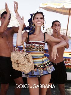 Dolce & Gabbana Spring 2013 Bianca Balti photographed by Domenico Dolce.