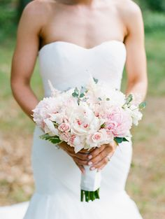 Gorgeous mixed pink peony wedding bouquet: Photography: Ruth Eileen - http://rutheileenphotography.com/