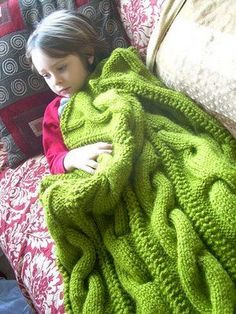 Finding Citadels: giant cable knit blanket