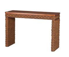 Cabana Banana II Console Table in Cinnamon Hand Braided Living Room Furniture