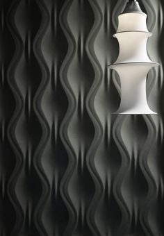 Panneau mural ONDA By Surface design Jacopo Cecchi, Romano Zenoni Loft Design, Design Hotel, Surface Design, 3d Wandplatten, Panneau Mural 3d, 3d Wallpaper For Walls, Decorative Wall Panels, 3d Wall Panels, 3d Texture