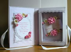 Cards from Lynne`s Loft: Baby Book Card Box Cards Tutorial, Card Tutorials, Arte Quilling, Spinner Card, 3d Paper Crafts, Shaped Cards, Pop Up Cards, Kids Cards, Hobbies And Crafts