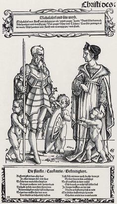 Artist: Beham, Hans Sebald, Title: »Die Erzväter des Alten Testaments«, Mahalaleel, Date: 1530