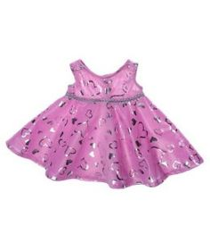 "Pink & Silver Dress Teddy Bear Clothes Outfit.  Fits most 14"" - 18"" stuffed animals including Build-A-Bear, Vermont Teddy Bear, Animalland, Nanco, Ganz, Bear mill, Teddy Mountain and more."