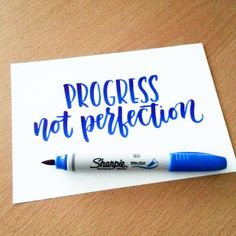 "Inspirational quote in blue brush lettering. ""pen used: Sharpie brush marker from Calligraphy Quotes, Calligraphy Letters, Typography Letters, Modern Calligraphy, Sharpie Calligraphy, Brush Lettering Quotes, Calligraphy Doodles, Calligraphy Handwriting, Cursive"