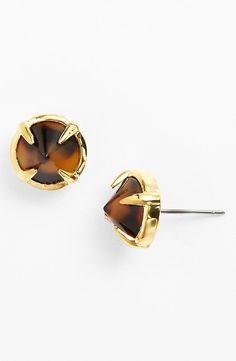 Tortoise Stud Earrings
