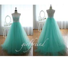 Elegant lace floor-length halter prom dress / graduation dress on Etsy, $186.90
