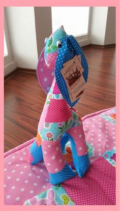 HEDERVIGA / Žirafka ušatá zajačiková - 50cm vysoká...skladom !