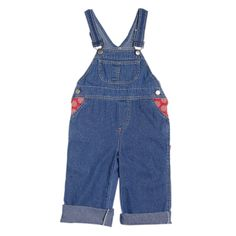 Denim Dungarees with Red Trim (Girl) - Sojo