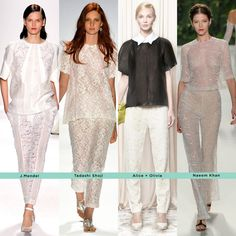 The Best Trends from NYFW// Lace//