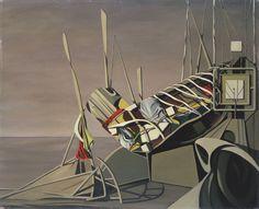 Kay Sage,Starlings, Caravans 1948