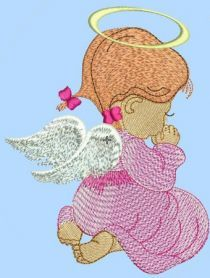 free angel embroidery design. Machine embroidery design. www.embroideres.com