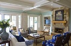 Image result for beach house family room