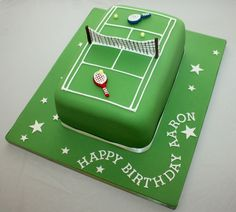 Tennis » Vanilla Bean Cake Company. Fun cake design. Ideal for a tennis themed bar mitzvah/bat mitzvah or birthday party