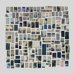 "Jenny Odell  ""Satellite Collections"", images gathered from Google satellite view and arranged by Jenny Odell. I especially like this first one which is titled ""Every Basketball Court in Manhattan""."