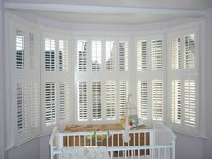 Indoor window shutters offers a unique design element to any decor. As an important protection aspect of the home, indoor window shutters are mostly for Bay Window Shutters, Bay Windows, Old Wooden Shutters, Wooden Windows, Home Design, Design Ideas, Home Depot, Diy Interior Shutters, Homes