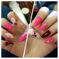 Valentines nails by the lovely ciarra mills #valentinenails #ciarramills