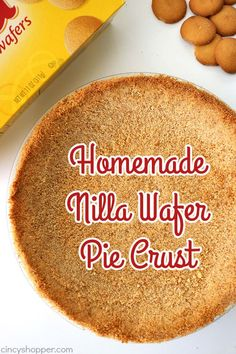Wafer Pie Crust Homemade Nilla Wafer Pie Crust- perfect start for so many of your favorite pie fillings. So easy to make!Homemade Nilla Wafer Pie Crust- perfect start for so many of your favorite pie fillings. So easy to make! Köstliche Desserts, Delicious Desserts, Dessert Recipes, Plated Desserts, Dinner Recipes, Yummy Food, Pie Crust Recipes, Pie Fillings, Pie Crusts