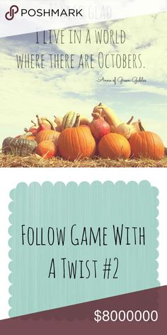 •Follow Game With a Twist (#2)• Starting my second Follow Game With a Twist since my first one was so successful! It was so great meeting so many of you and getting to know you a little more personally! 🍁How it works: Follow, like, tag your PFFs, comment some of your favorite things or a little about yourself, follow everyone who likes this listing, and share! 🍁 Looking forward to meeting more of you! 💙 Sweaters