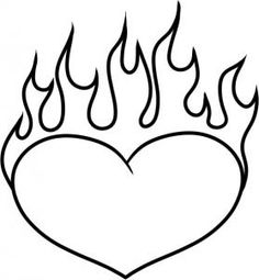Cool complex 39 s design coloring pages coloring page of a for Coloring pages of hearts on fire