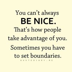 Sometimes it isn't easy to claim your own space. You have to find a way to set your Boundaries-for your own good & friends and family's, too. Advice I need to learn to follow myself!