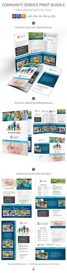 Trifold Brochure for Business by Meedea Thanks for purchasing - community service letter
