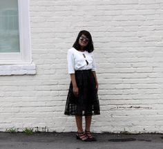 Monochrome Bow and Check Outfit