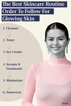 There is no shortage of skin care products and treatments that promise a healthy, glowing complexion. Besides picking the right ones for your skin type, experts say it's equally important to follow the proper skin care routine order rules. Best Skin Care Routine, Skin Routine, Get My Life Together, Cleanser And Toner, Best Beauty Tips, Good Skin, Glowing Skin, Health And Beauty, Auditorium