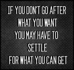 Just saying..no ambition, no progress!