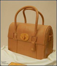 Mulberry handbag birthday cake https://www.facebook.com/SugarandSpiceGourmandise