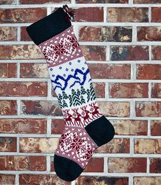 Personalized Knit Christmas Stocking- U. Wool - Scandinavian- Christmas Stocking Made in the U. Knitted Christmas Stockings, Knit Stockings, Christmas Knitting, Handmade Home Decor, Handmade Gifts, Stocking Pattern, Personalized Stockings, Scandinavian Christmas, Handmade Christmas