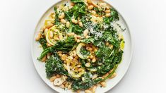 If you like bold, assertive flavors—like broccoli rabe and lemon—this rustic white bean side dish is the recipe for you. **use preserved lemon & serve w/ pasta? White Kidney Beans, White Beans, How To Cook Broccoli, Broccoli Lemon, Spinach, Savarin, Vegan Thanksgiving, Lemon Recipes, Bon Appetit