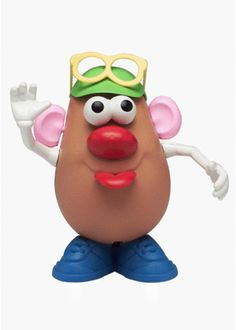 Reincarnated many times over since his debut in 1949, Mr. Potato Head has been miniaturized, cartoon-ized, and stuffed. Have a giggle with your four-year-old as you put his parts away into the allotted storage compartment: his bum.
