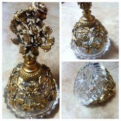 Vintage / Perfume Bottle / Matson / Gold Filagree / 1950s  on Etsy, $45.00