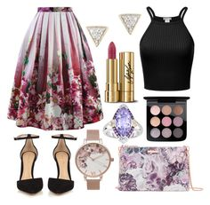 """violet"" by crakjow ❤ liked on Polyvore featuring Chicwish, Gianvito Rossi, Adina Reyter, Ted Baker, Olivia Burton, Dolce&Gabbana, MAC Cosmetics and Phillip Gavriel"