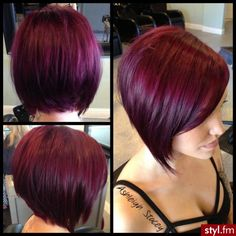 Love the color and cut! I won't go red again, but a darker brown with a hint of red would be gorgeous!!