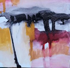 """Esencia.  La estructura del esqueleto desnudo   Proyecto """"En Esencia"""" Pigmento, resina /papel 15×15 Proceso aditivo en un único sentido; negro, rojo, ocre, blanco."""