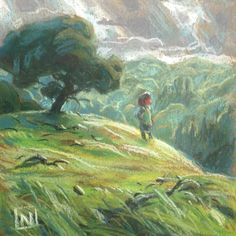 She could see all her lands from here and all was well in the kingdom. Location: Briones State Park, CA Medium: Pastel on Paper Size: x Character Design Tips, Environment Design, Children's Book Illustration, Picture Design, Beautiful Artwork, Art Inspo, Book Art, Concept Art, Art Drawings