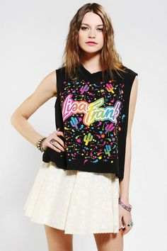 58a97675182c6f Lisa Frank X UO Cactus Logo Muscle Tee... I might need this one
