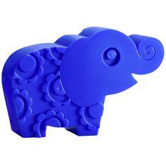 Blafre matboks elefant blå