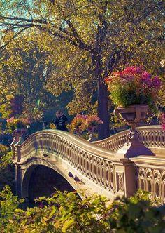 Bow Bridge in Central Park Manhattan, New York City