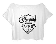 Sleeping with Sirens Crop Top Women's SWS Shirt Free Ship