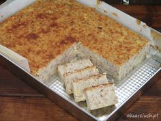 Piróg biłgorajski Polish Recipes, Polish Food, Cornbread, Vanilla Cake, Vegetarian, Healthy Recipes, Dishes, Meat, Cooking