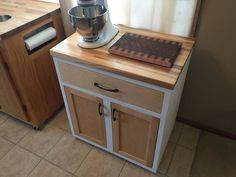 Built a kitchen cabinet w/ spice drawer out of hard maple and plywood Check out the full project http://ift.tt/1WWbvIr Don't Forget to Like Comment and Share! - http://ift.tt/1HQJd81