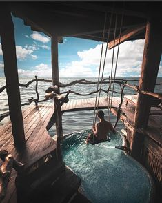 Azulik Tulum Hotel - Mexico Loving the idea of a swing in your deck! Vacation Places, Dream Vacations, Places To Travel, Travel Destinations, Maui Vacation, Winter Destinations, Dream Vacation Spots, Beautiful Hotels, Beautiful Places