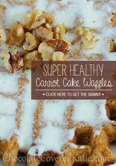 This waffle tastes as good as it looks! And super healthy!