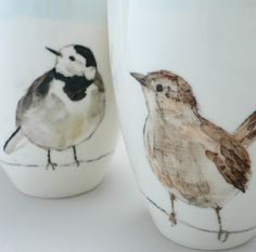 birds on ceramic