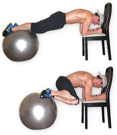 The swiss ball (also known as the exercise ball) is not just for women! I don't know why, but I have never seen a man use one at the gym. Ever. They are an AMAZING workout tool! So… Get your fancy pants on one and work it!!