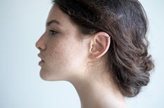 Minimalist Gold Ear Cuff. Hammered Lines. No Piercing. by knobbly