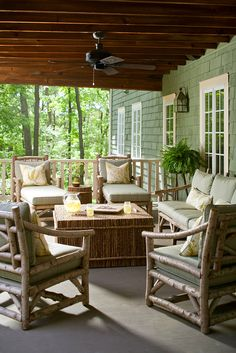 Rustic porch furniture - Color Tips from Designer Shazalynn Cavin-Winfrey | Traditional Home